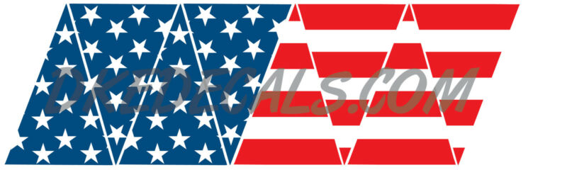 AMERICAN FLAG REFLECTIVE HELMET CREST
