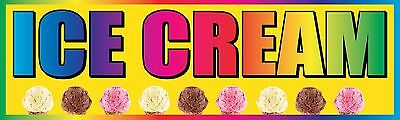 3x10 Ice Cream Vinyl Banner Sign - Yellow