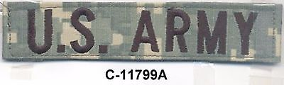 ACU US ARMY Distinguishing Service Name Tape Patch VELCRO® BRAND Hook Fastener