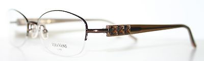 VERA WANG ALLURE BROWN New Rimless Optical Eyeglass Frame For Women