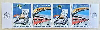 4X Timbre Stamp Grèce Ellas Greece 1988 YT 1665 1666 EUROPA CEPT Neufs