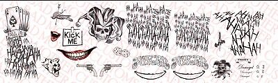 1/6 Scale Jared Leto Joker Suicide Squad Tattoo Decals for 12 inch - Jared Leto Tattoo