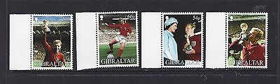 GIBRALTAR - 905 - 908 - 2002 - WORLD CUP - BOBBY MOORE -