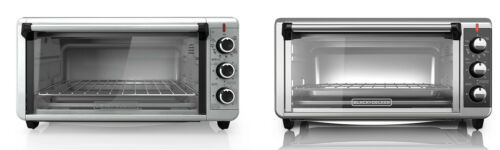 Black+Decker TO3250XSB Extra-Wide 8-Slice Toaster Oven, Stai
