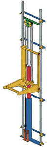 Roped Hydraulic Cantilever Lift - Freight - Cargo - Elevator