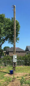 Replace broken rotten pole 6479338444 We install new hydro poles