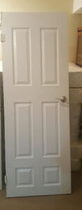 White Door with Handle Size:  H - 78 inches  W - 28 inches