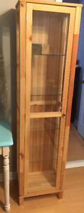 Pine Glass Cabinet