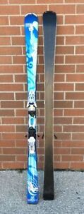 Used Nordica downhill women's skis bindings 144 cm 150 152 160