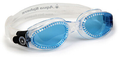 SALE! AQUA SPHERE KAIMAN GOGGLES BLUE LENS SMALL FIT ADULT UNISEX (Swimming Goggles Sale)