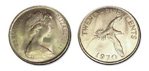 Bermuda 1970 25 Cents Uncirculated (KM18)