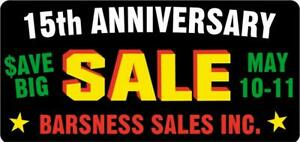 15th ANNIVERSARY SALE, HUGE DISCOUNTS!!