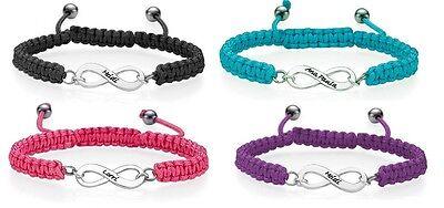 ity Shamballa Seil Armband Geburtstagsgeschenk Name UK (Personalisierte Infinity Armband)