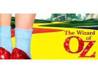 Wizard of Oz with Live Orchestra at the London Palladium 13th April 2018 7:30pm FRONT SECTION SEATS