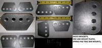 "1/4"" THICK H/D 4 HOLE MOUNTING PLATE, SHOCKS, TRAC ARMS, 4 LINK,"