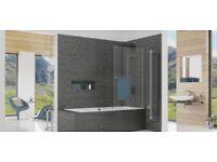 INSPIRE two panel in-fold BATH SCREEN