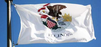 ILLINOIS STATE FLAG new superior quality 2x3ft size fade resist flag us seller Illinois State Polyester Flag