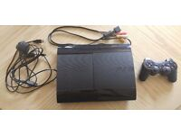Playstation 3 Super Slim 500gb with 10 games, wireless controller and all leads