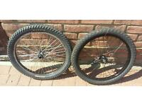 """Bmx bike Mongoose front and rear 20"""" wheels and tyres."""