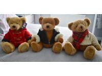 3 HARRODS TEDDY BEARS
