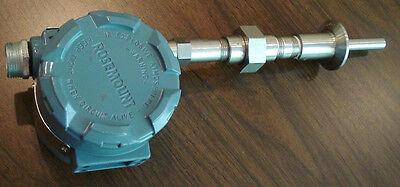 Rosemount Temperature Transmitter 444 Series W 1-12 Sanitary Clamp Connection
