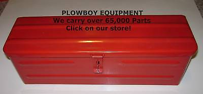 New Red Steel Metal Tool Box5a3rfor Case Ih Massey Ferguson Mahindra Tractor