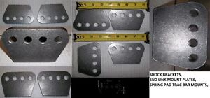 "H/D 4 HOLE MOUNTING PLATE 1/4"" THICK ,SHOCKS, TRAC ARMS, 4 LINK,"