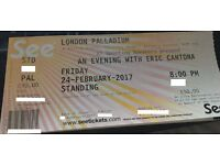 An Evening with Eric Cantona London Palladium Friday 24th February 2017 8PM 1 ticket Standing