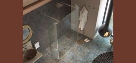 Kudos Ultimate 2 Hinged 8mm Wetroom Deflector Panel Right Hand Fit - RRP £247