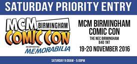 2 Priority Birmingham Comic Con Tickets- Saturday