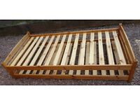 Childs single stacking bed with guest bed beneath