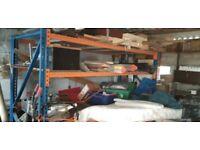 Blue and Orange warehouse racking