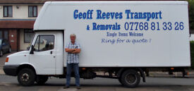 Furniture removal service. Man & van. Van hire. Hourly or per quote. Call Geoff on 07768813326
