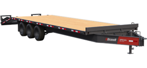 Brandt UPR1124 Pintle Hitch Ramp Deck Trailer