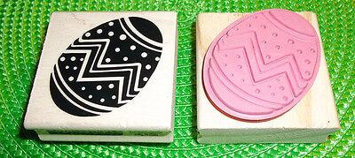 CRAFT SMART Easter rubber stamp DECORATED EGG
