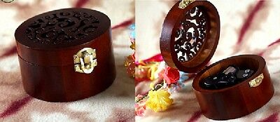 CIRCLE WOOD WIND UP MUSIC BOX : CANON IN D