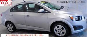 2012 Chevrolet Sonic LS,À PARTIR DE 20$/SEM. 100% APpROUVÉ !!!