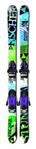Fischer twin tip mens boys downhill skis bindings 131 cm 130