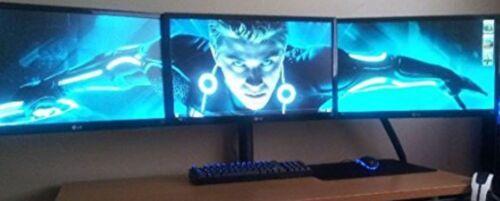 Triple LCD Monitor Desk Mount Stand Heavy Duty Fully Adjusta