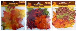 NEW Artificial Fall Maple Leaves in Varied Colors (50 Count) Qty 1~FREE SHIPPING