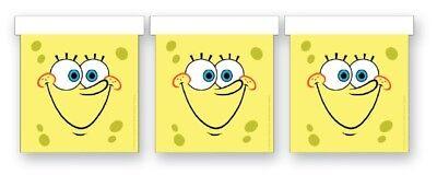 SpongeBob Kindergeburtstag Party Sponge Bob Face Wimpelkette Girlande - NEU