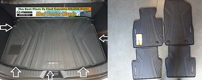 Mazda CX 3 Rear Rubber Cargo Tray and a Set of 4 All Weather Floor Mats