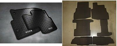 2016   2018 Mazda CX 9 Front and Rear All Weather Rubber Floor Mats set of 8