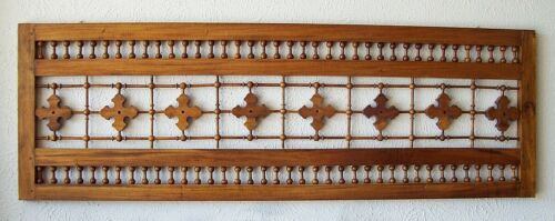 Vintage Victorian Wood Stick and Ball Fretwork Spandrel Architectural Salvage