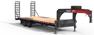 Brandt 22' Highboy Gooseneck Trailer: 8-Ton Series