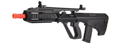 JG AUG A3 Quad RIS Airsoft AEG Rifle with Front and Rear Folding Iron Sights