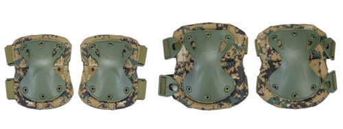 Tactical Military Quick Release Padded Airsoft Knee & Elbow Pads Marpat AC-478M