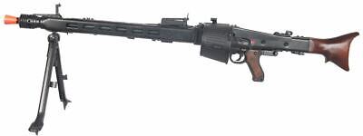 AGM Maschinengewehr MG42 Full Metal AEG Airsoft Machine Gun Toy w/ Drum Magazine