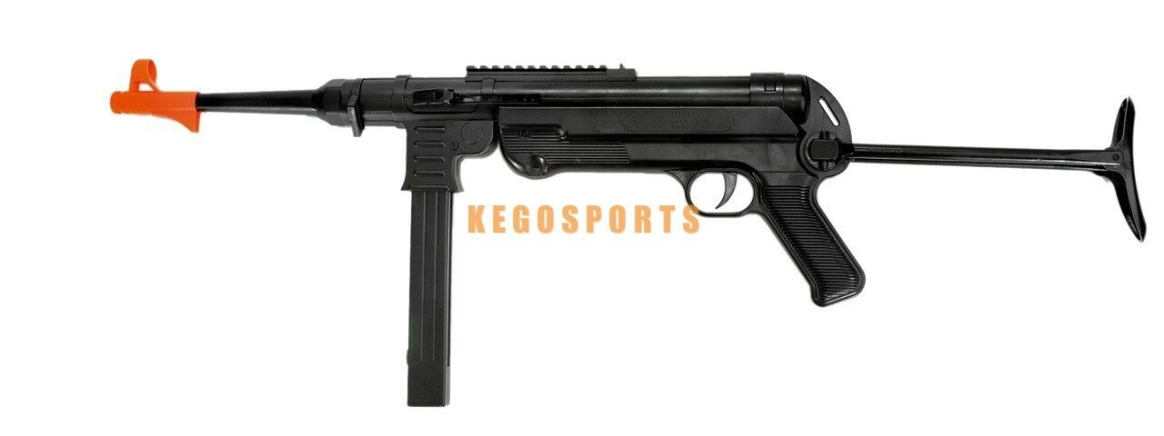 MP40 WWII German Spring Sub Machine Airsoft Gun 250 FPS with Under Folding Stock