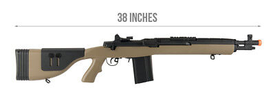 Fully Automatic M 14 Socom 16 DMR Airsoft AEG Rifle Metal Gearbox in Tan, used for sale  Prescott Valley
